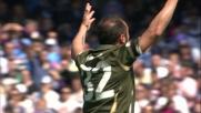 Brocchi sfiora il goal con un tiro di destro a Napoli