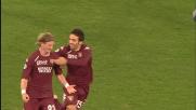 Abate sfrutta l'errore di Dabo e segna il goal del vantaggio del Torino con la Lazio