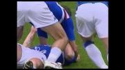 Cassano a segno con un colpo di testa a Marassi contro l'Udinese