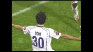Il goal di Toni porta la Fiorentina in vantaggio a Cagliari