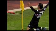 Quagliarella, che magia da centrocampo! Sampdoria in vantaggio al Bentegodi