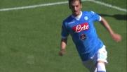 Goal di Gabbiadini per l'1-0 del Napoli sul Verona