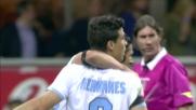Hernanes beffa Handanovic da calcio di rigore