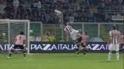 Angella con uno stacco poderoso realizza il goal del vantaggio dell'Udinese