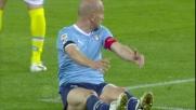 Britos procura un rigore alla Lazio per fallo su Rocchi