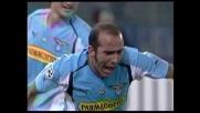 Di Canio trova il varco giusto per il goal del pareggio contro il Lecce