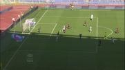 Mauri ringrazia Rocchi per l'assist e porta in vantaggio la Lazio contro il Bologna