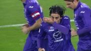 Aquilani spiazza Perin dagli 11 metri e sigla il goal dell'1-1 tra Fiorentina e Genoa