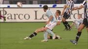 Chiellini interrompe in spaccata l'offensiva della Lazio