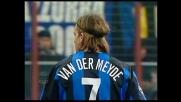 Van der Meyde si dimentica il pallone contro il Milan