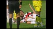 Bertotto ostacola irregolarmente Pellissier e causa un rigore a favore del Chievo