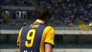Toni fermato dalla traversa nel derby di Verona