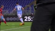 L'azione personale di Candreva non sorprende la difesa del Napoli