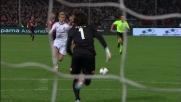 Contropiede di Honda che realizza in pallonetto il goal vittoria contro il Genoa