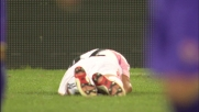 Balzaretti colpito in faccia durante Palermo-Bari