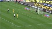 Handanovic alza sopra la traversa il tiro dalla distanza di Brienza