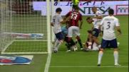 Thiago Silva in mischia sigla il goal del 2-0 tra Milan e Lecce