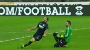 Un'occasione per l'Inter nata da un cattivo controllo di Diego Lopez nel derby