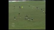 Rui Costa spara un bolide sulla traversa contro il Lecce