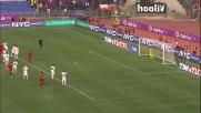 Goal del pari dal dischetto per Mirko Vucinic contro la Lazio