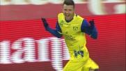 Thereau difende la palla e sigla il goal del vantaggio contro il Cagliari