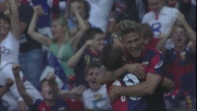 Floro Flores da posizione impossibile realizza il goal del vantaggio del Genoa