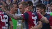 Luca Rigoni segna il terzo goal del Genoa contro il Frosinone