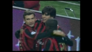 Shevchenko spiazza Antonioli su rigore: Milan in vantaggio contro la Sampdoria
