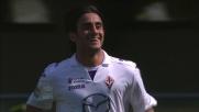 Aquilani da solo in area realizza il raddoppio per la Fiorentina