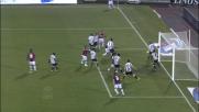 Salvataggio di Inler sulla linea di porta dell'Udinese