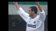 Ventola lancia Vieri che trova il goal contro l'Hellas Verona