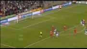 Barreto mette a lato un rigore contro la Sampdoria
