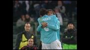 Lopez segna il secondo goal contro l'Inter