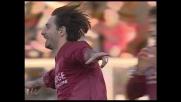 Destro da fuori a incrociare, grande goal di Vigiani per il Livorno