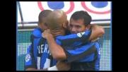Adriano segna il goal del 2-0 dell'Inter contro il Treviso