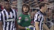 Perin è reattivo sul tiro di Morata e respinge in angolo