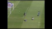 Il palo nega il goal a Iaquinta