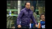 Fiorentina in vantaggio sulla Lazio con il goal di Pazzini