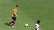 Handanovic non si scompone e blocca il tiro di Mesbah