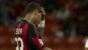 Rosati intercetta il destro potente di Thiago Silva in Milan-Lecce