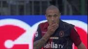 Nainggolan firma il goal del 2-0 per il Cagliari sul Bologna