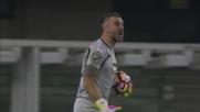 Sorrentino respinge il bolide di Niang su punizione, niente goal per il Milan