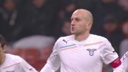 Il diagonale di Rocchi beffa Julio Cesar e porta in vantaggio la Lazio a San Siro