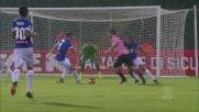 Nestorovski sfrutta l'errore di Angella e segna il goal che sblocca Palermo-Udinese