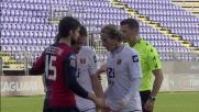 Manfredini viene espulso in Cagliari-Genoa per un malinteso in area