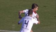 Dessena segna il goal del momentaneo pareggio del Cagliari contro l'Atalanta