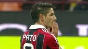 Pato manda alto dal dischetto contro la Fiorentina