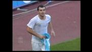Pandev segna di testa il goal del 3-1 della Lazio sull'Ascoli