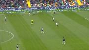 Il potente destro di Zapata in Udinese-Atalanta si spegne di poco a lato
