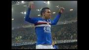 Quagliarella scatenato: goal di testa per il 4-1 della Sampdoria sul Livorno